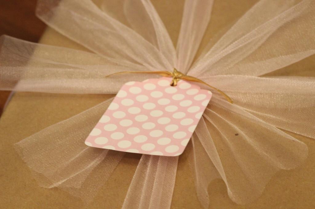 Pink Polka Dot Gift Tag