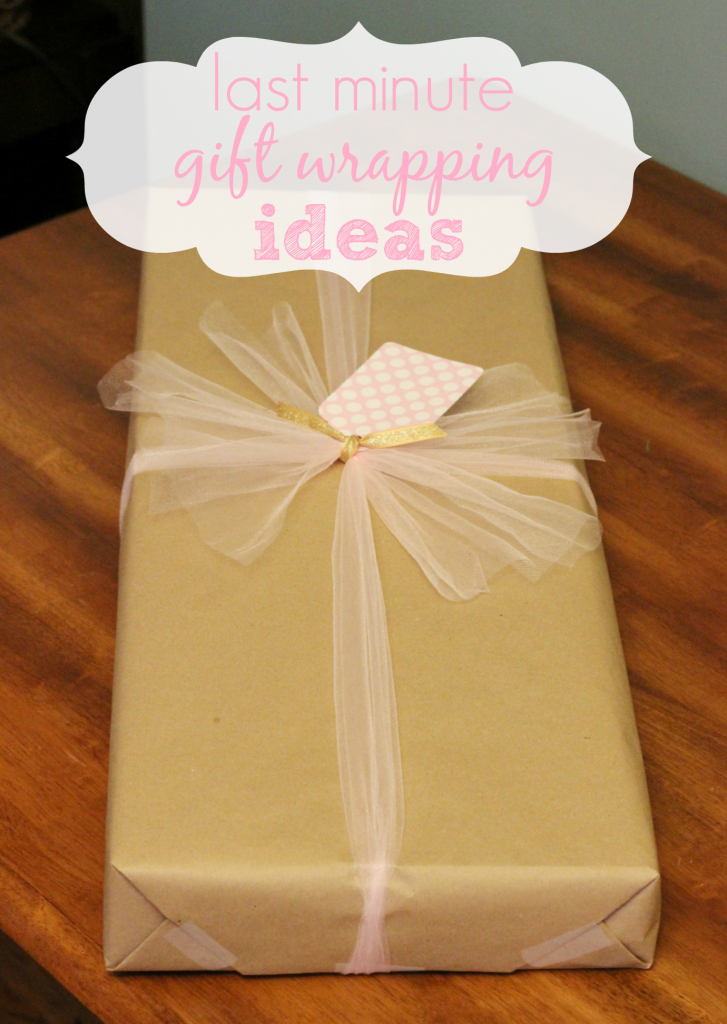 Last minute gift wrapping idea