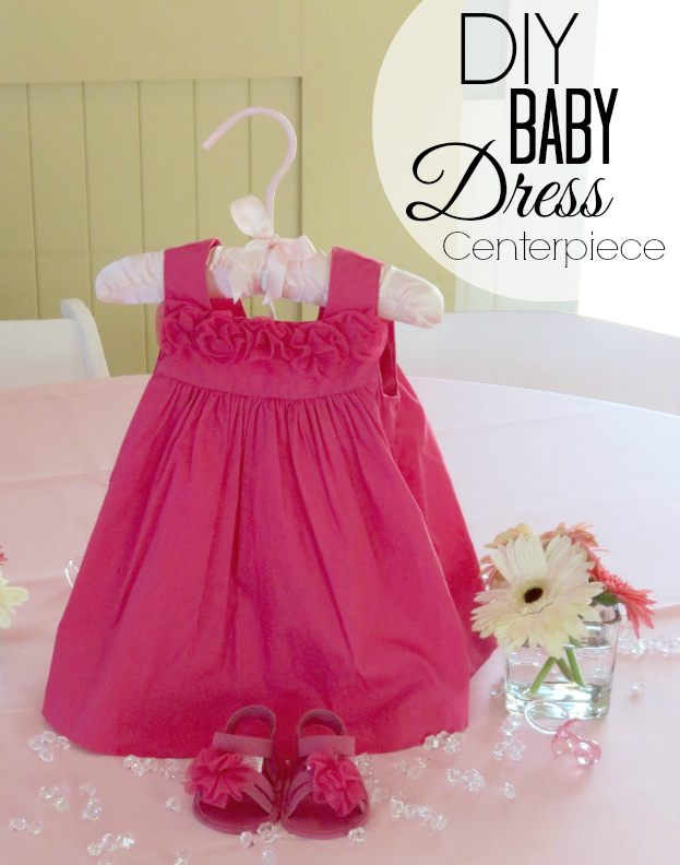 baby dress centerpiece