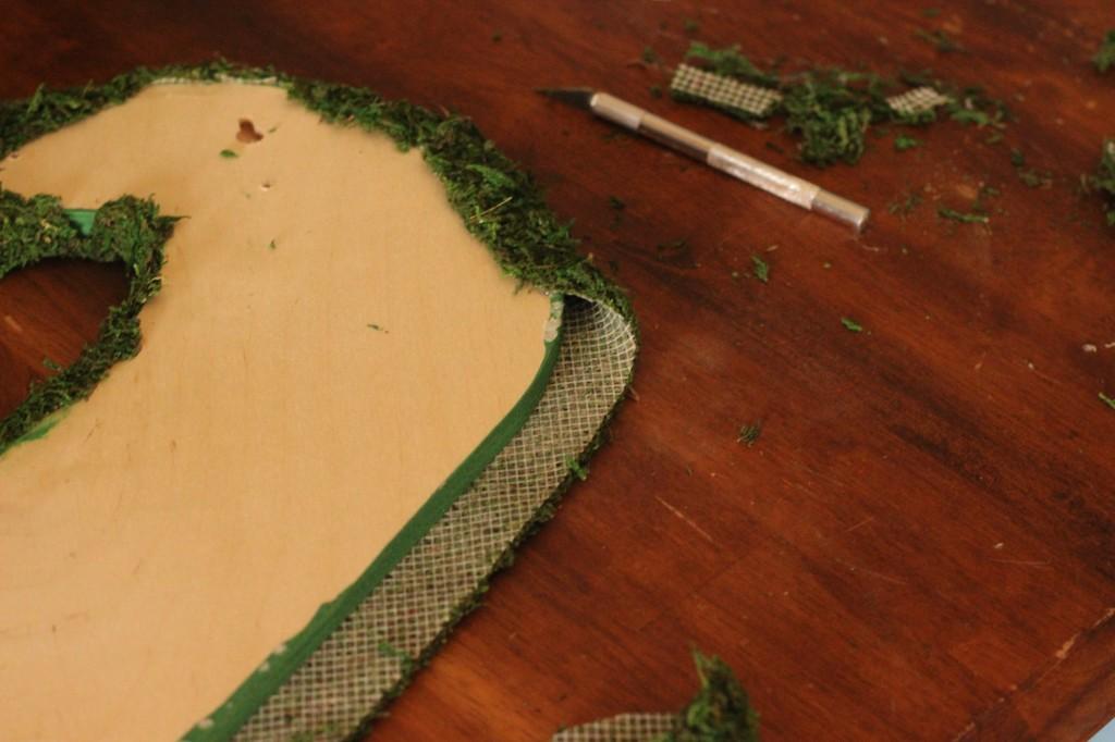 Moss Letter DIY