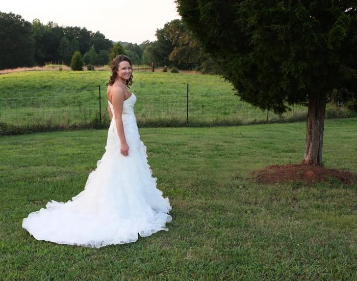 bridal portrait outside