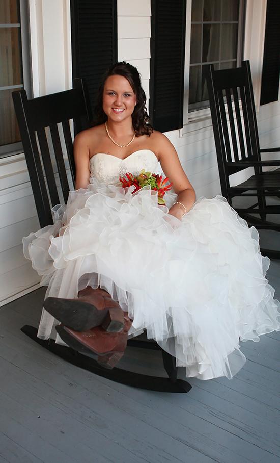 bridal portrait boots