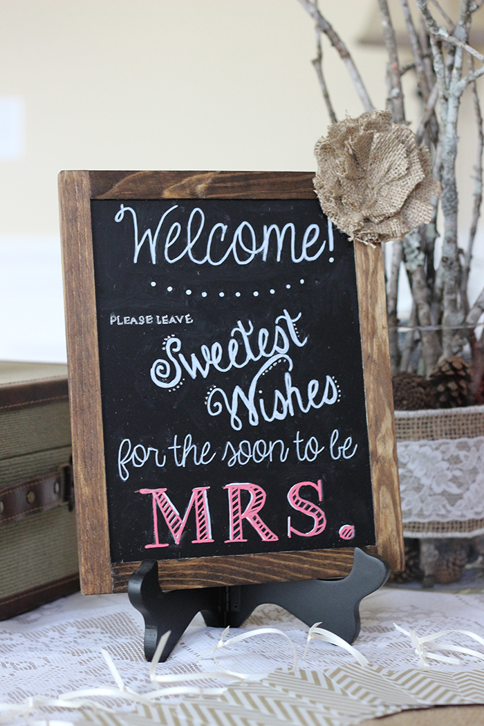 bridal shower chalkboard art