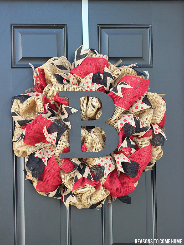 University of South Carolina Burlap Wreath