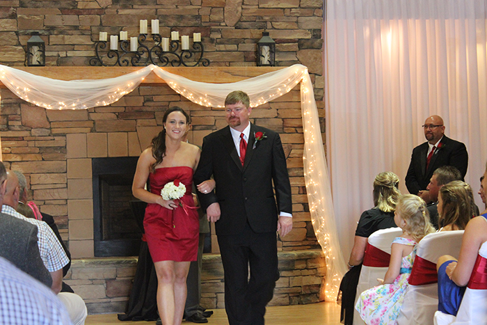 garnet bridesmaid dresses