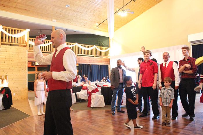 gamecock wedding garter toss