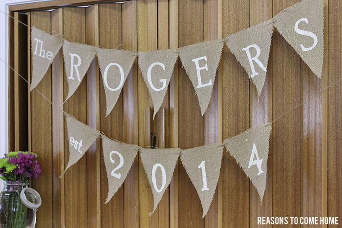 rustic bridal shower banner