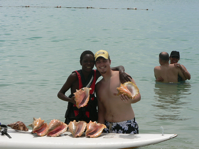 st. Lucian conch shell
