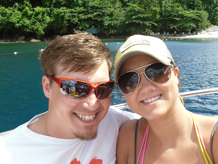 St. Lucian honeymoon