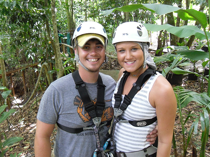 St. Lucia honeymoon zipline