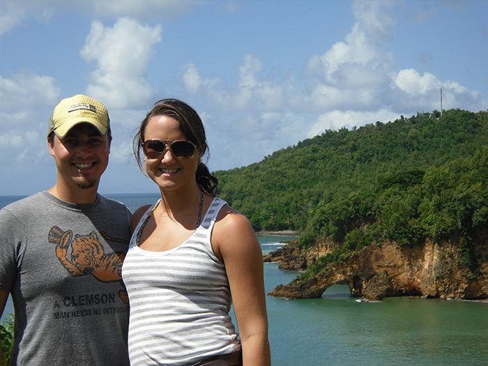Paige Sloan Cory Sloan St. Lucia
