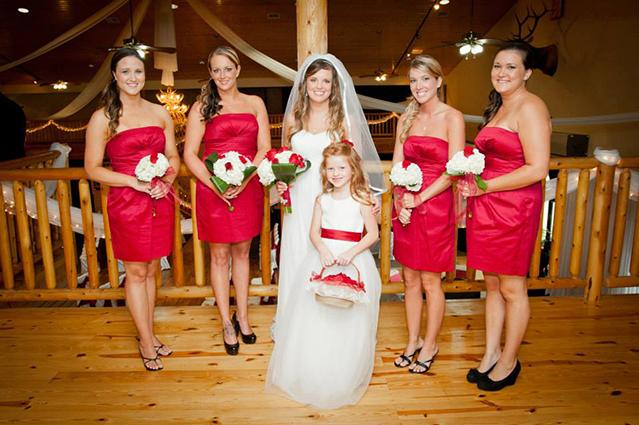 Gamecock wedding bridesmaids