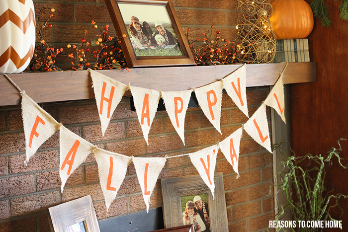 fall mantel banner