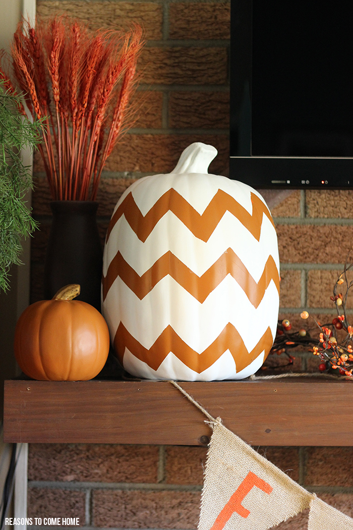 DIY chevron pumpkin