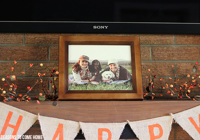 fall mantel displays