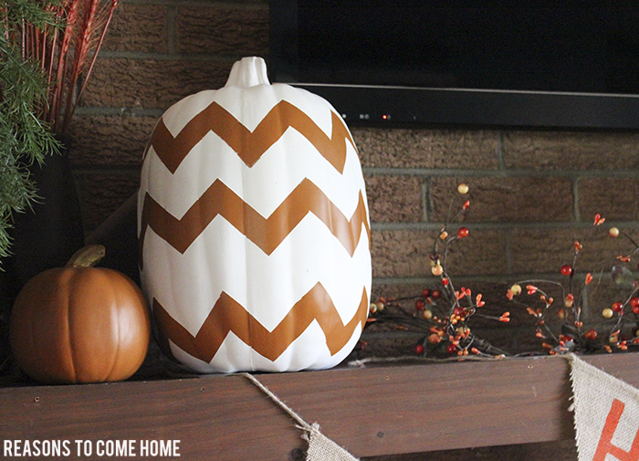 Chevron Pumpkin DIY