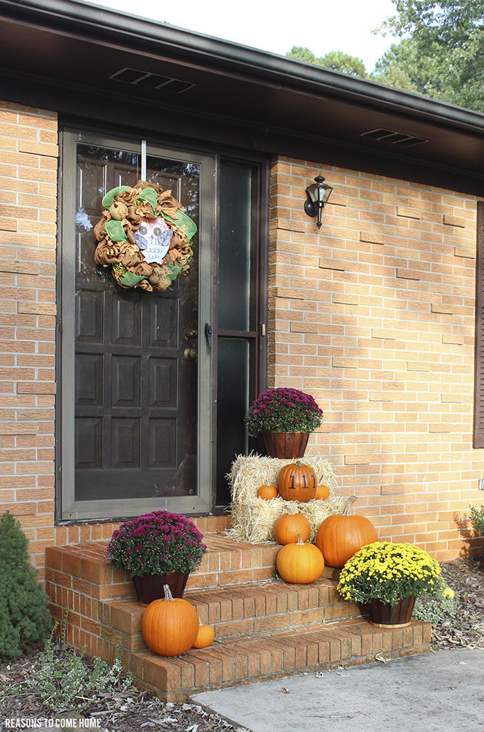 cute fall front porch ideas