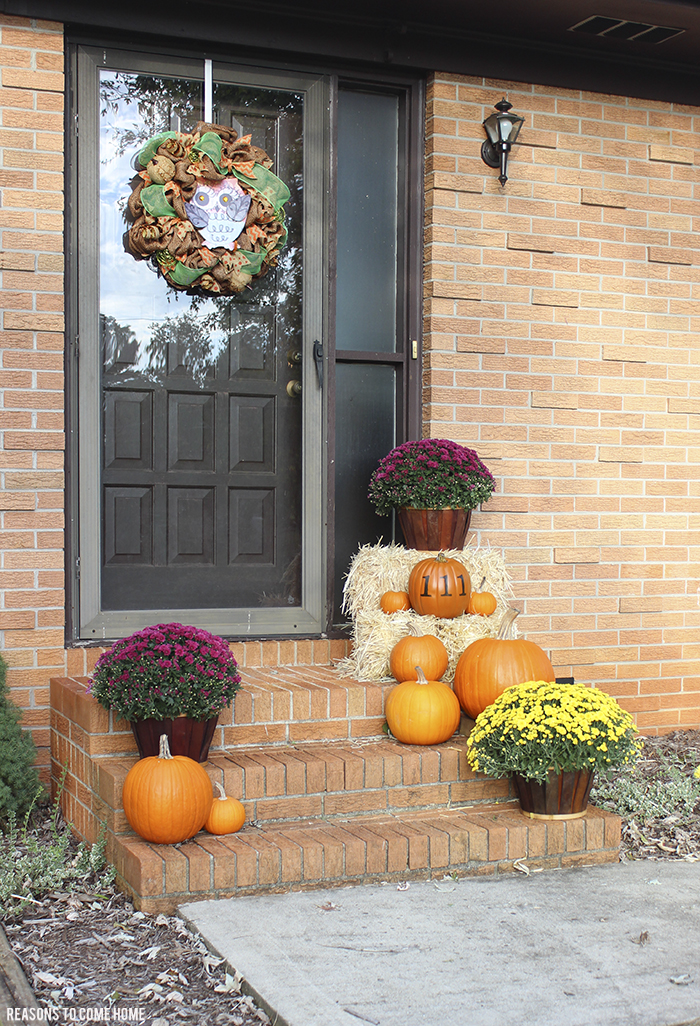 pumpkin front porch