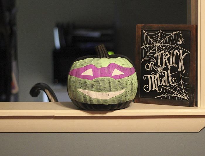 Ninja Turtle Chalkboard Pumpkin