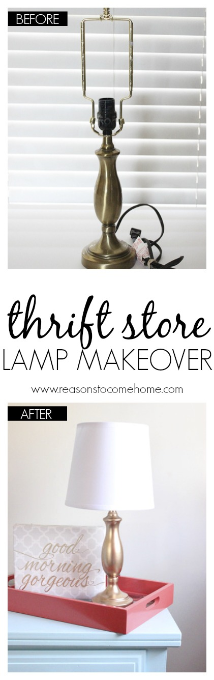 DIY Lamp Makeover Before and After