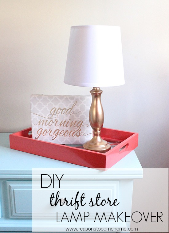 DIY thrift store lamp makeover