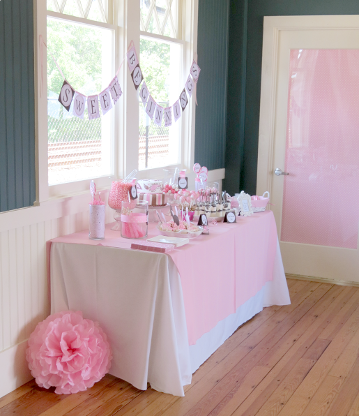 Baby Shower Dessert Table and Door