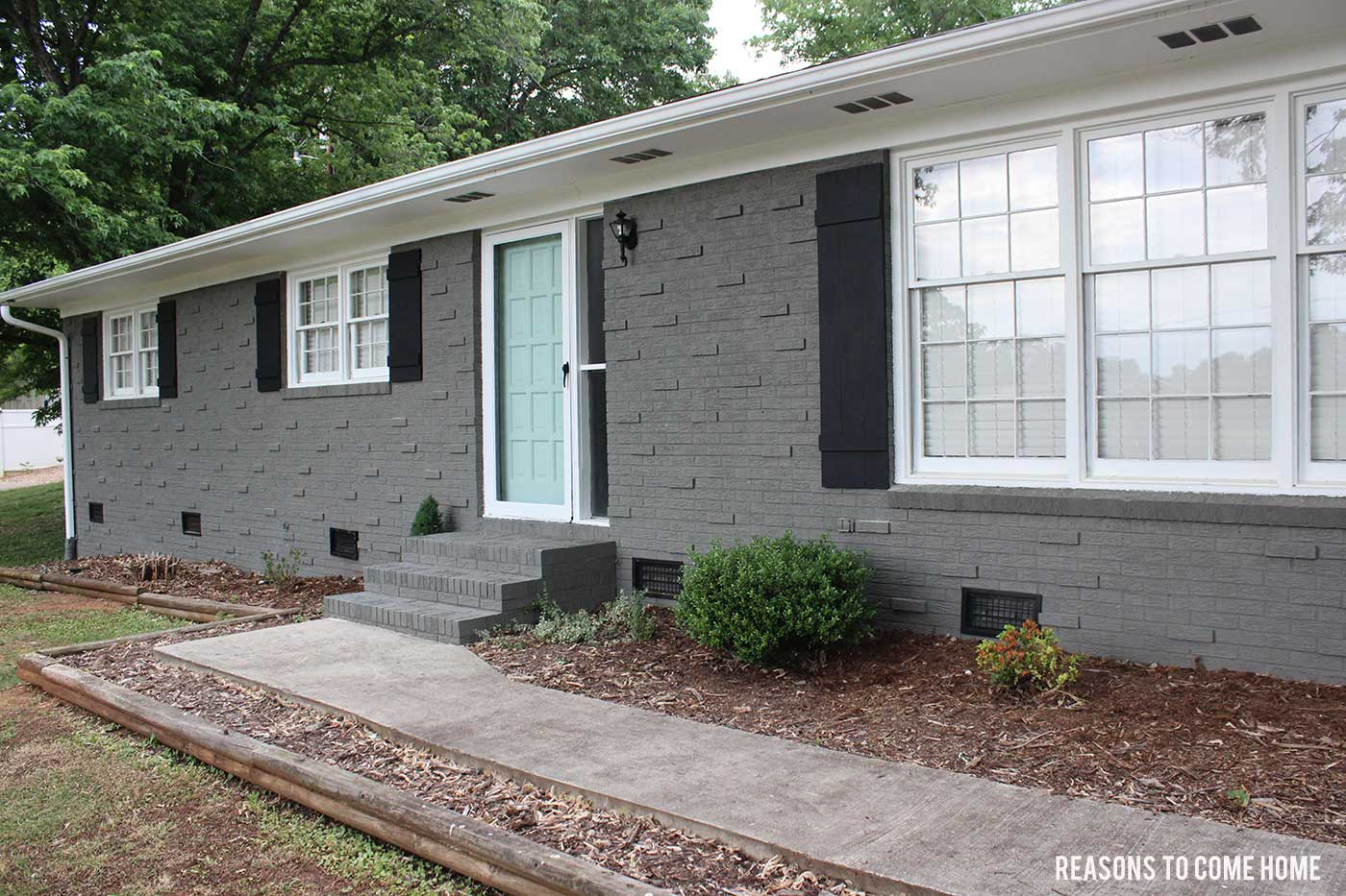 Pleasant Painted Brick Reveal Largest Home Design Picture Inspirations Pitcheantrous