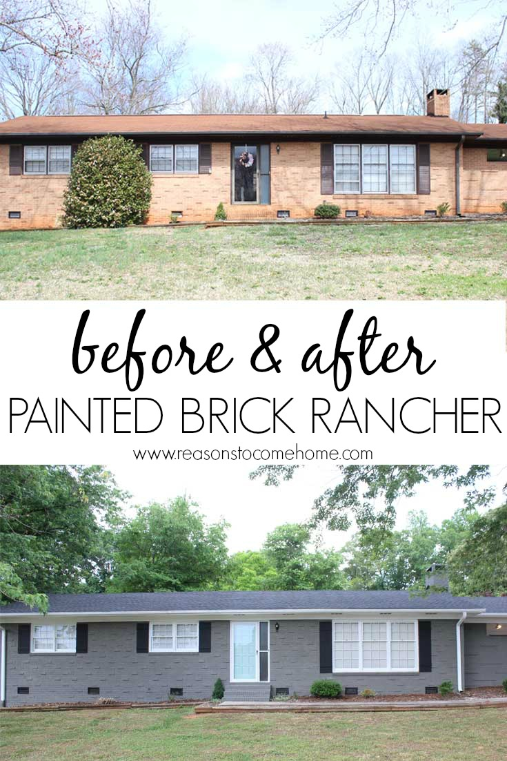Painted brick reveal for Pictures of painted houses exteriors