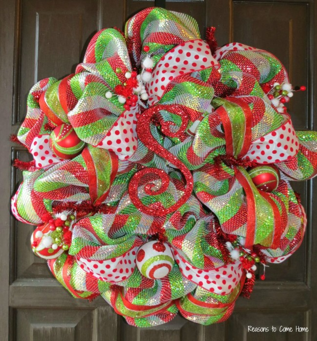 Christmas Deco Mesh Wreath 1