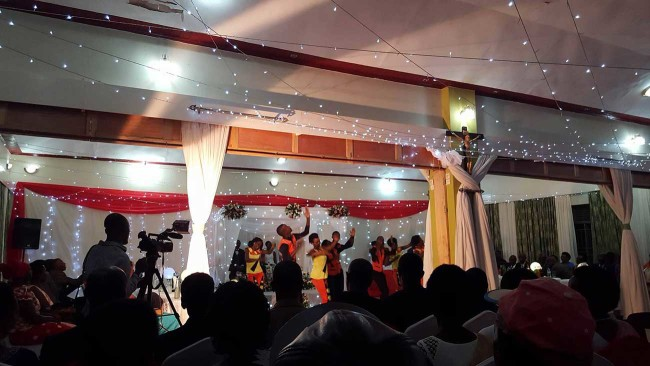 Rwandese Wedding reception
