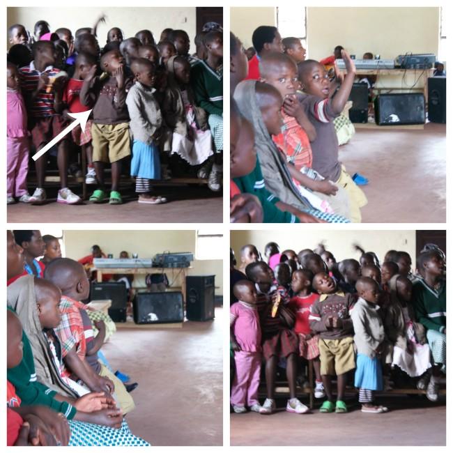 Rwandan boy praising Jesus