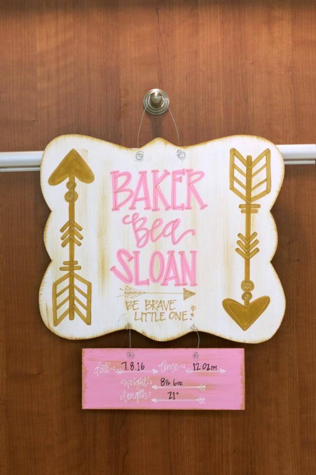 Baker's Hospital Sign