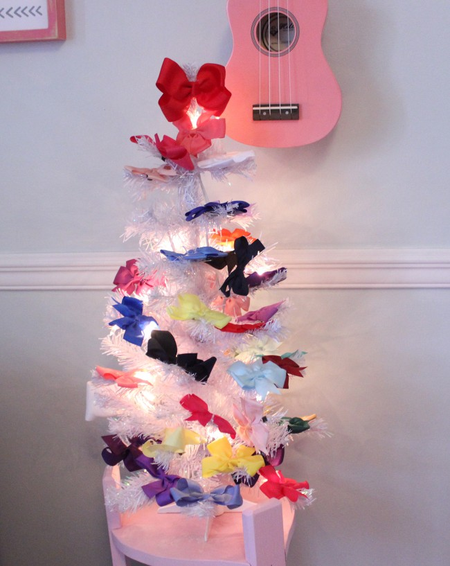 hair bow christmas tree