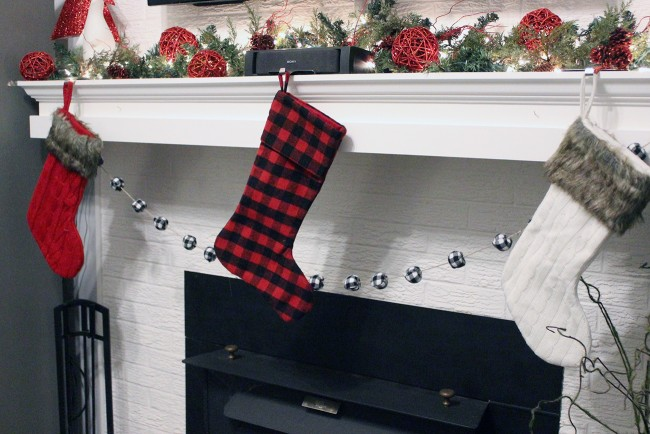 buffalo plaid stockings