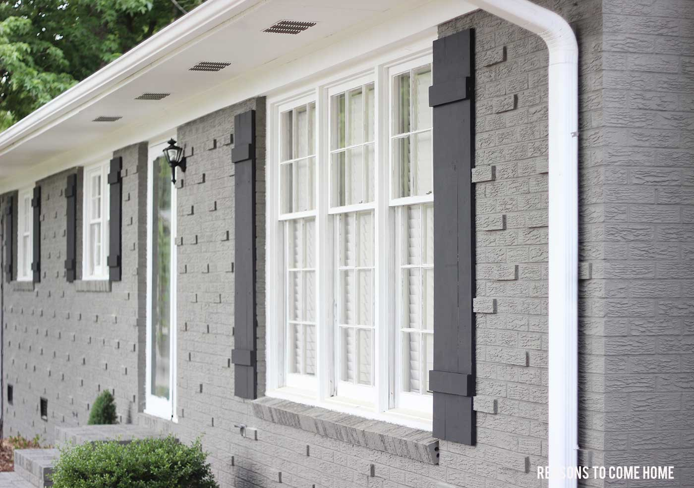 painting outdoor window shutters board and batten exterior shutters